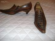 продам женские кожа туфли 37 Италия ручная работа слегка б/у